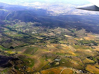 Humevale, Victoria - Humevale aerial photograph from north west