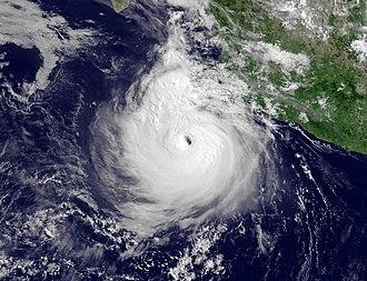 2011 Pacific hurricane season - Image: Hurricane Dora July 21 1445Z