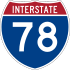 Interstate 78 marker