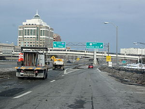 Interstate 787 - I-787 shares a brief concurrency with US 9 between exits 3 and 4.