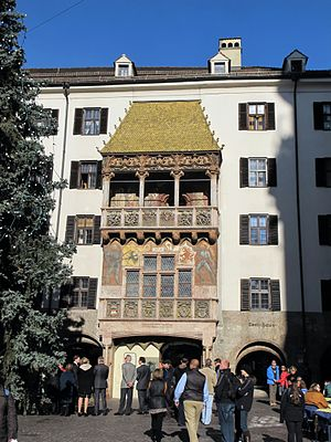 "Maximilian I, Holy Roman Emperor - The ""Golden Roof"" residence in Innsbruck, Tyrol"
