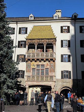 "Maximilian I, Holy Roman Emperor - The ""Golden Roof"" residence in Innsbruck, Tyrol"