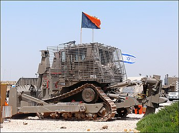 English: IDF Caterpillar D9R armored bulldozer...