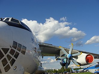 Testbed aircraft - Image: IL 76 LL with experemental TV7 117ST
