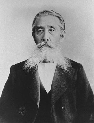 Itagaki Taisuke - around 1906 (about 70 years old)