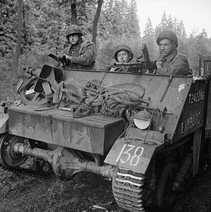 Royal Netherlands Motorized Infantry Brigade - A Loyd Carrier of the Prinses Irene Brigade, in September 1944.
