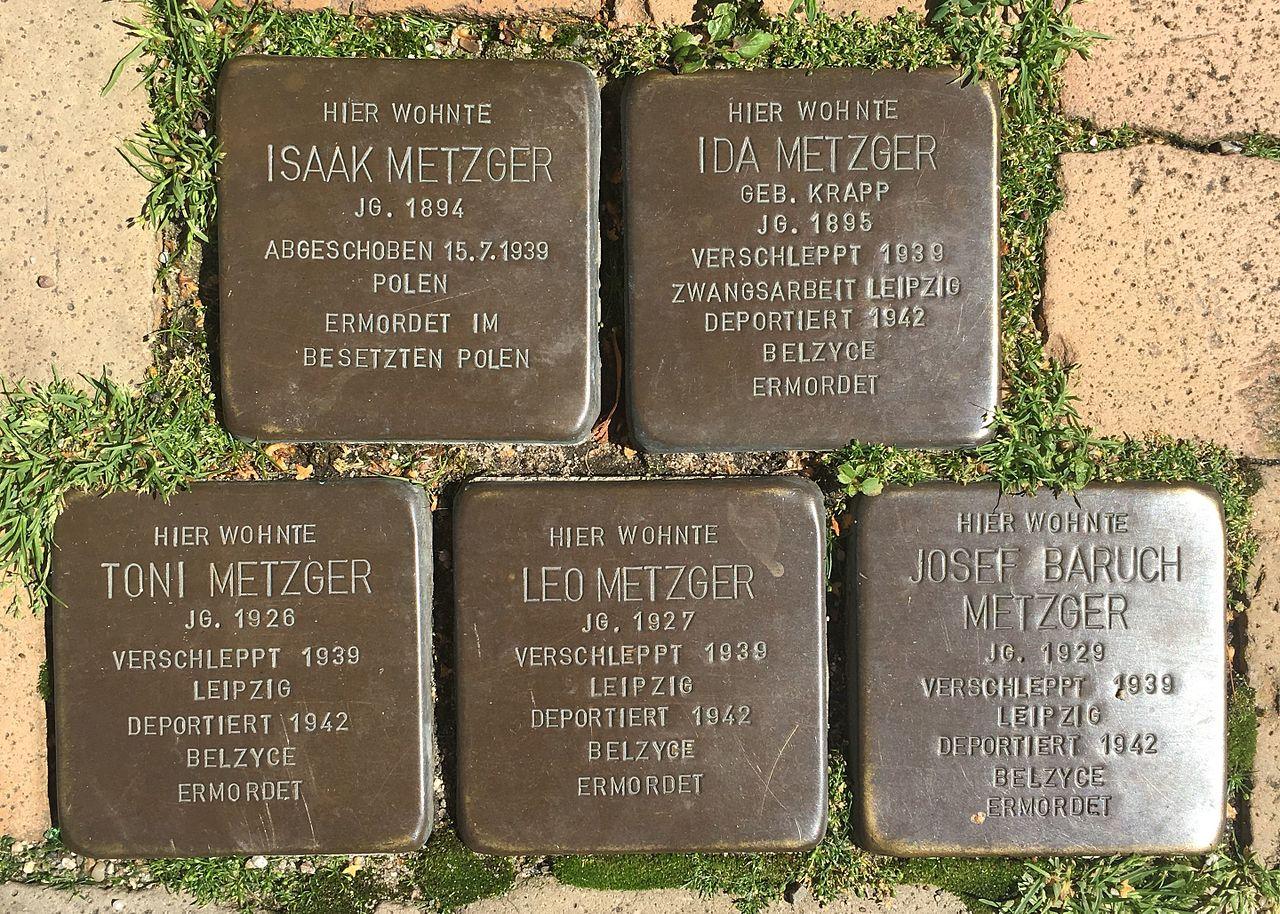 Ida, Isaak, Josef Baruch, Leo und Toni Metzger Stolpersteine.jpg