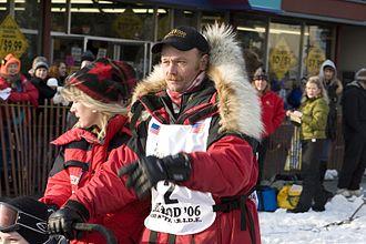 Mitch Seavey - Mitch Seavey at the ceremonial start of the 2006 Iditarod.