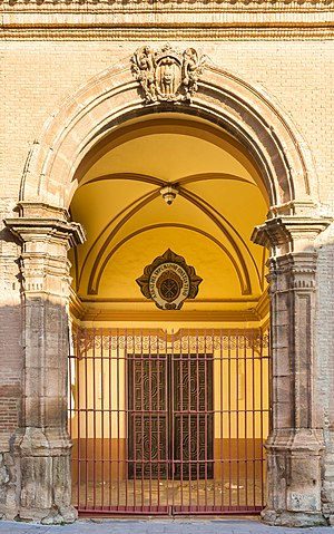 Cariñena, Aragon - Entrance to the church of the Assumption