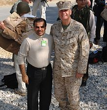 Ijaz with General James L. Jones in Bagram Air Base, Oct. 2006