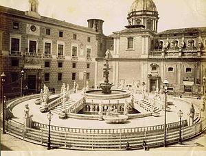 Giuseppe Incorpora - Palermo's Piazza Pretoria Square.