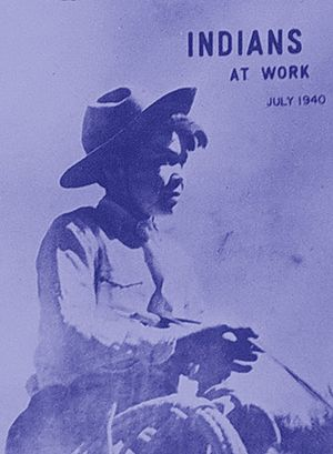 Bureau of Indian Affairs - 1940 Indians at Work magazine, published by the Office of Indian Affairs, predecessor agency to the Bureau of Indian Affairs.