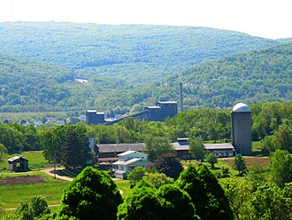 Hanover Township, Luzerne County, Pennsylvania - Huber Breaker in Ashley Borough, as viewed from a farm in Hanover Township