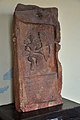 Inscribed Slab Showing a Male with Bow - Vikram Samvat 1420 - Maglora - ACCN 00-Q-7 - Government Museum - Mathura 2013-02-22 4721.JPG