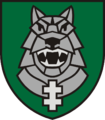 Insignia of the Mechanised Infantry Brigade Iron Wolf (Lithuania) 2012.png