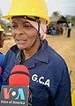 Interview lors de la réhabilitation de la piste Lombolo-Loulombo, au Congo-Brazzaville, le 4 août 2019.jpg