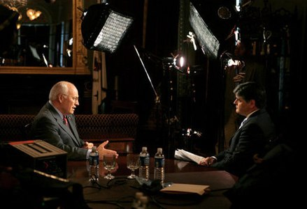 Interviewing Vice President Dick Cheney in 2006