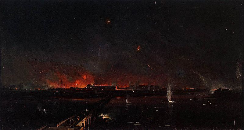 File:Ippolito Caffi - Bombardment of Marghera on the Night of May 24, 1849 - WGA03741.jpg