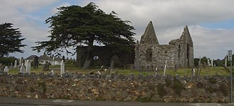 Kilbarrack - Old Kilbarrack Church (Mariners Church, Chapel of Mone) and graveyard, beside the original Kilbarrack village, now Bayside