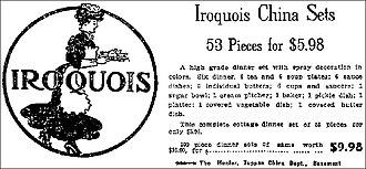 Iroquois China Company - Iroquois China Company - Advertisement 1907