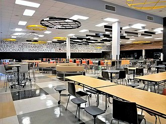 Irving High School - Cafeteria, after renovations