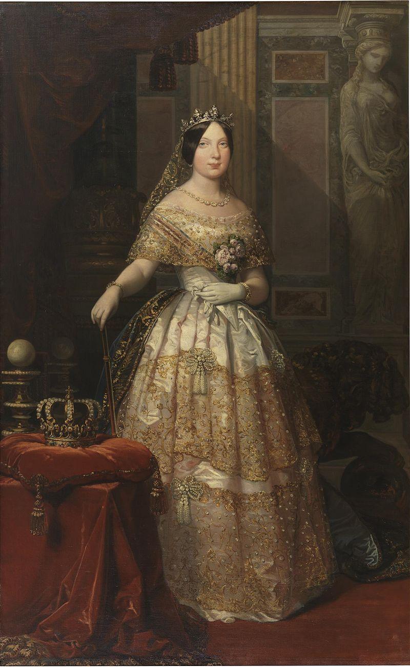 Изабель II испанская как Queen.jpg