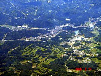 Ishikawa, Fukushima - Aerial view of Ishikawa