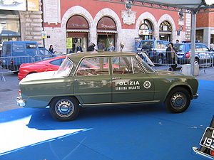 "Polizia di Stato - Historic Italian State Police ""Panther"" Alfa Romeo Giulia Super of the Flying Squad"