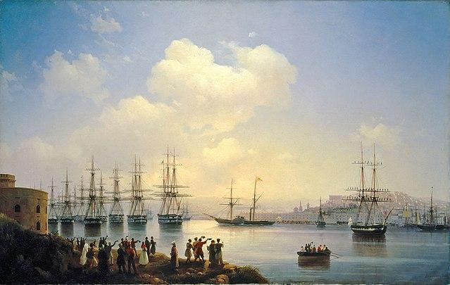 Русская эскадра на Севастопольском рейде. Иван Константинович Айвазовский, 1846 год