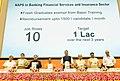 J.P. Nadda, Shri Narendra Singh Tomar, Smt. Smriti Irani, Shri Dharmendra Pradhan and Shri Rajiv Pratap Rudy launch the NAPS in Banking (BFSI) Sector, at the 2nd Anniversary Celebrations of the Skill Indian Mission.jpg