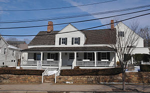 Bernardsville, New Jersey - John Parker Tavern, then the Bernardsville Public Library, now vacant.
