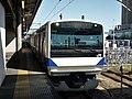 JR East E531 at Oyama Station.jpg