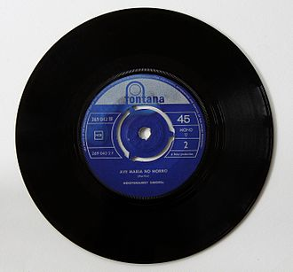 "Hootenanny Singers - B side of 45-RPM record with ""Ave Maria No Morro"""