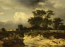 Jacob van Ruisdael (1628-1629-1682) (imitator of) - Landscape with a Brook and Farmhouse among Trees - 65 - Fitzwilliam Museum.jpg