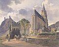 Jakob Alt - Burg Schönburg und die Liebfrauenkirche in Oberwesel am Rhein - 1842.jpeg
