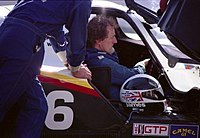 James Weaver i sin IMSA GTP-bil 1990.