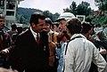 James Garner et Yves Montand, 1966, Royat, tournage du film Grand Prix.jpg