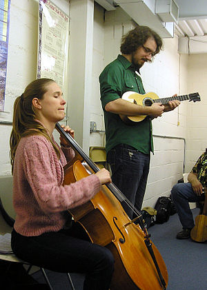 James Hill (Canadian musician) - Image: James Hill and Anne Janelle conducting a workshop