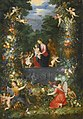 Jan Brueghel the Younger and Hendrik van Balen the Elder - The Holy Family Within a Garland of Fruit, Flowers and Vegetables Held by Angels.jpg