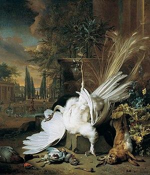 Jan Weenix - The White Peacock (Gemäldegalerie der Akademie der bildenden Künste in Vienna)