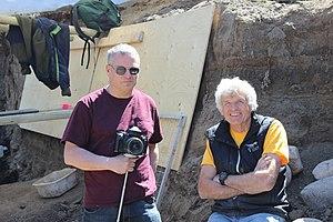 Philip J. Currie - At Edmonton Dinosaur Dig 2014