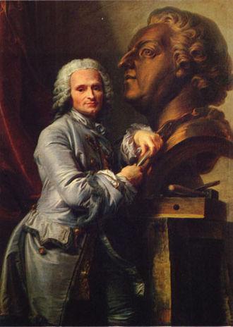 Jean-Baptiste Lemoyne - Portrait of Lemoyne by Jean Valade, Palace of Versailles