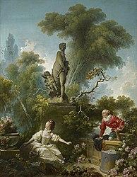 Jean-Honoré Fragonard: The Progress of Love: The Meeting