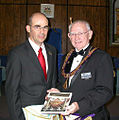 Jean-Louis de Biasi and Bud Banks Grand Master of the Freemasons Nevada.jpg