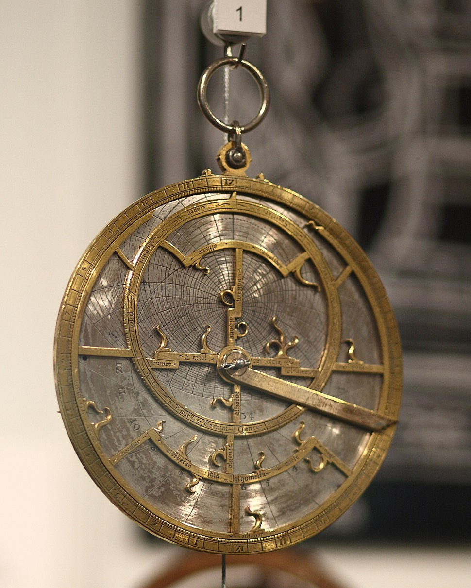 Jean Fusoris planispheric astrolabe in Putnam Gallery, 2009-11-24