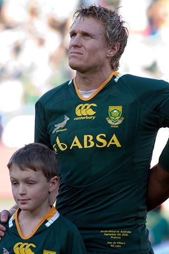 Jean de Villiers - Image: Jean de Villiers 2012 Springboks