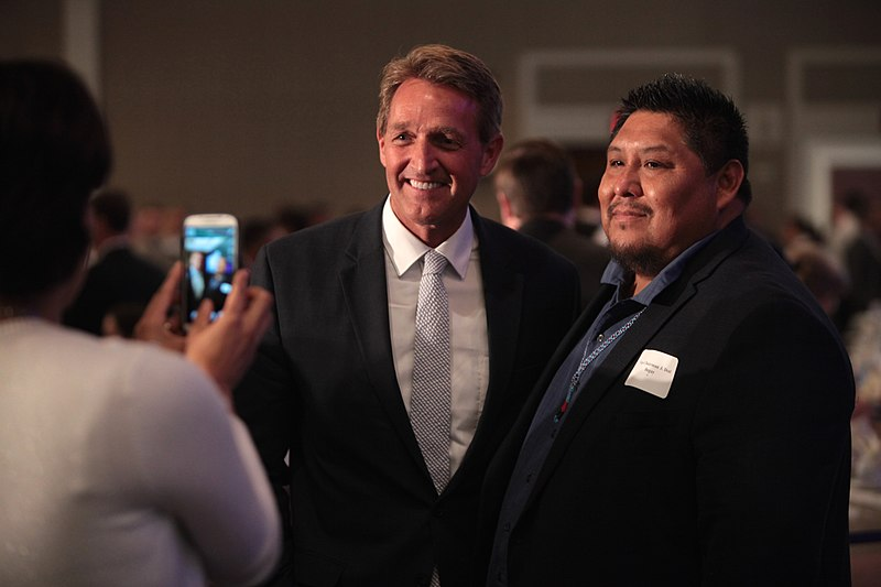 file jeff flake with supporter 26852162995 jpg wikimedia commons