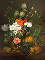 Jenny Salmová - Still Life with a Lizard and Flowers.jpg