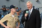 Jerry West on USS Ronald Reagan.jpg