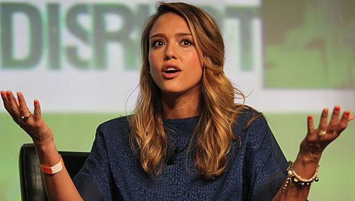 Jessica Alba at TechCrunch Disrupt San Francisco 2012 03 (cropped)
